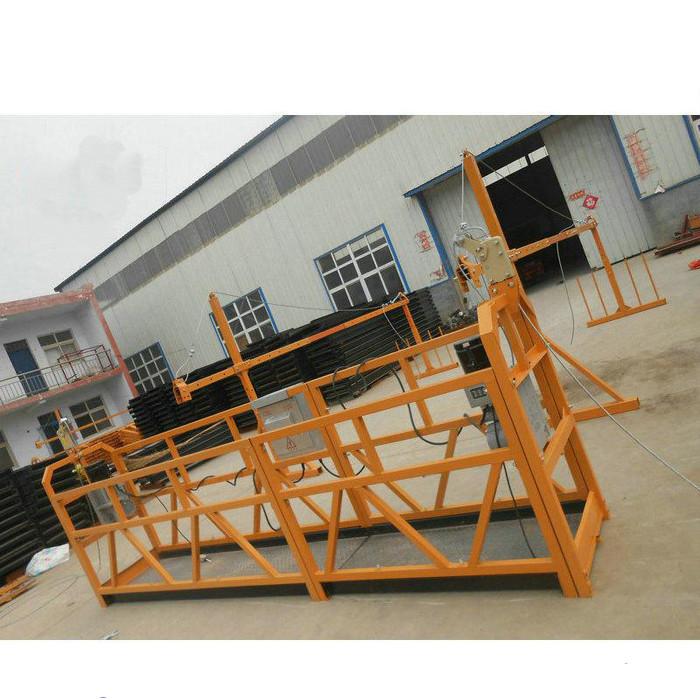 Надежная ZLP630 Живопись Стальная подвесная рабочая платформа для строительства