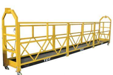 сталь / горячий оцинкованный / алюминиевый сплав веревка подвешенная платформа 1.5kw 380v 50hz