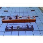 прочная строительная веревка подвешенная платформа с защитным замком 30kn zlp1000 2.2kw 2.5m * 3