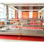 zlp630 алюминиевая подвесная платформа (ce iso gost) / высокопроизводительное оборудование для очистки окон / временная гондола / колыбель / качели