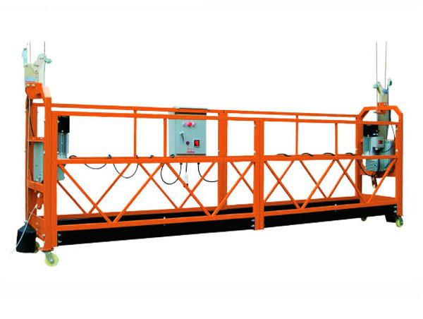 2.5M x 3 Разрез 1000 кг Подвесная платформа доступа Скорость подъема 8-10 м / мин