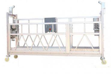 стальная окраска / горячая оцинковка / алюминий zlp630 подвешенная рабочая платформа для облицовки фасада