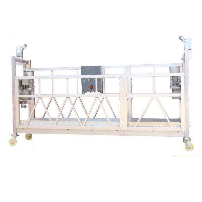 Сталь окрашенная / горячая оцинкованная / алюминиевая ZLP630 подвесная рабочая платформа для строительства фасадной живописи